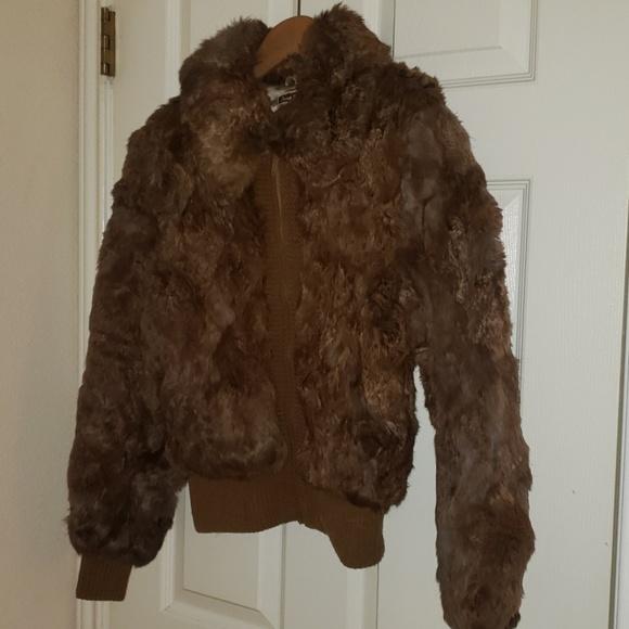 Donna Ricco Jackets & Blazers - Vintage Genuine Rabbit Fur Coat Dino Rico